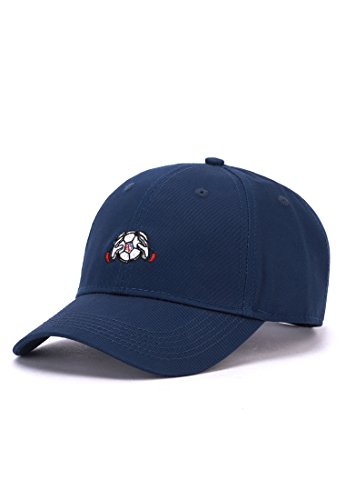 Hands of Gold HOG Keeper Curved Cap Snapback, Navy/White, one Size