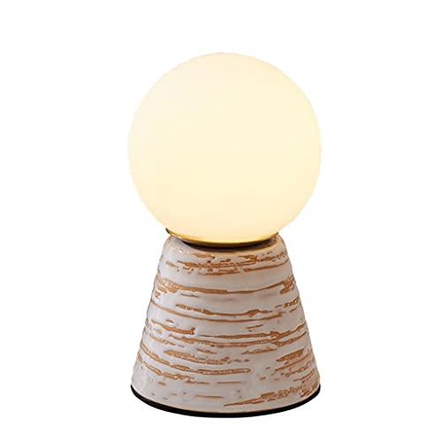 Lámparas de lectura de lámparas de mesa esféricas pequeñas con lámpara de escritorio de fuente de luz para la luz de la noche de regalo para la sala de estar del dormitorio