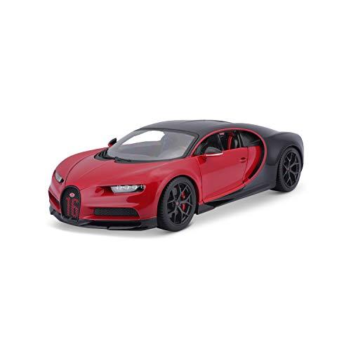 Maisto Bugatti Chiron Sport 1/18 Diecast Model Car - Black/Red (18-11044-00000022)