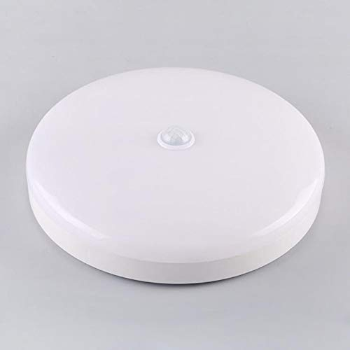 Fusmaker Led-plafondlamp, bewegingssensor-plafondlamp, 220 V, ronde lampen voor trappen, aisle, balkon, badkamer, binnen- en buitensensor-lampen
