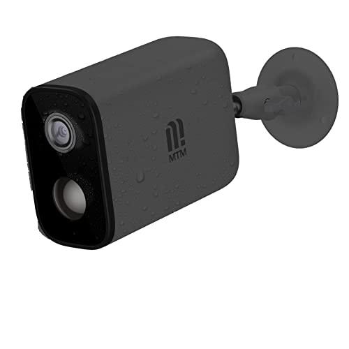 Cámara de seguridad al aire libre WiFi, MTM 1080P recargable batería de vigilancia IP cámara de seguridad para el hogar con visión nocturna de 60 pies, audio bidireccional, detección de movimiento humano PIR