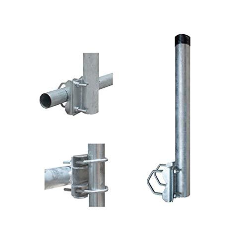 PremiumX Balkon-Halter 40cm Ø 48mm Stahl Mast Geländer-Halterung für Satelliten-Schüssel SAT-Antenne Satelliten-Anlage Sat-Spiegel Ausleger - auch nutzbar als Mastaufsatz Mast-Verlängerung