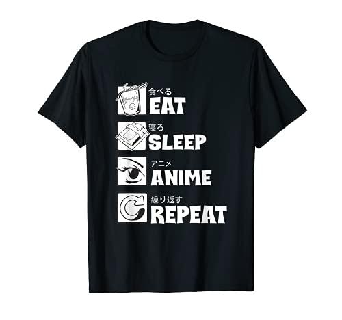 Eat Sleep Anime Repeat Shirt Funny Japanese Manga Lover Gift T-Shirt