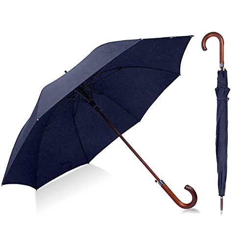 YSYSPUJ Umbrella Umbrella Man Cane Wind Umbrella Male Walking Stick Men's Long Wind Proof Umbrellas Man Resistant Classic Umbrella Men (Color : Navy Blue)
