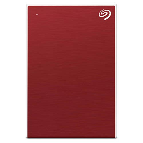 Seagate Backup Plus Slim 2 TB External HDD – USB 3.0 for Windows and Mac, 3 yr Data Recovery Services, Portable Hard Drive – Red with 4 Months Adobe CC Photography (STHN2000403)
