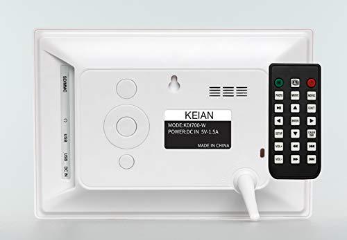KEIAN7インチ液晶画面デジタルフォトフレームKDI700-W