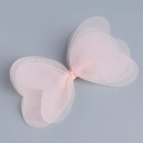 New Fashion Korean Cute Baby Girls Hairpins Cartoon Net Yarn Bowknot Clip Hair Clips Children Hair Styling Accessories Wholesale Powder