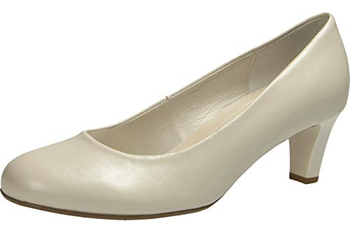 Gabor Shoes Damen Basic Pumps, Weiß (Off-White(+Absatz) 80), 38.5 EU