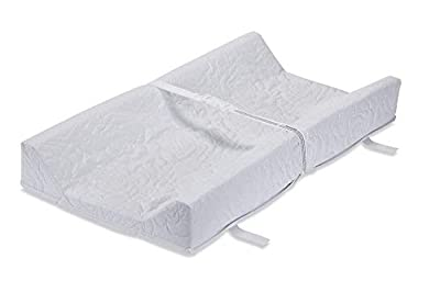 LA Baby Waterproof Contour Changing Pad, 32 inch, Made in USA, Quilted Cover with Non-Skid Bottom, Safety Strap, Fits All Standard Changing Tables/Dresser Tops for Best Infant Diaper Change (Renewed)