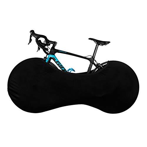 KINGEE Funda Cubre Bicicletas para Interiores, Cubierta De Polvo De Bicicleta, Funda Bicicleta Decorativas Cubierta De Bicicleta De Montaña, Sirve para El 99% De Las Bicicletas para Adultos,Negro