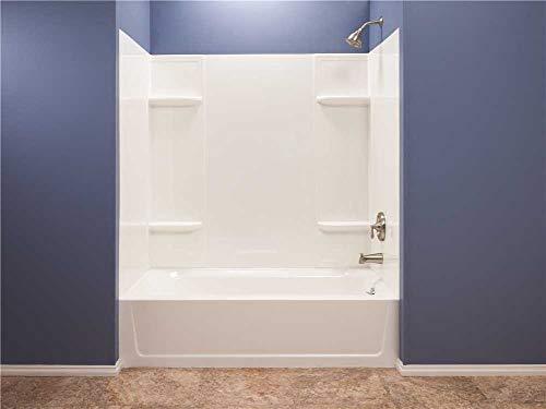 El Mustee 53WHT Durawall Thermoplastic Bathtub Wall Kit, 5...