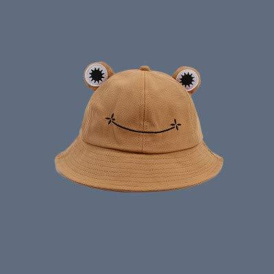 Sombrero de Cubo a la Moda para Mujer, Nuevo Sombrero de Verano, Gorra de Pesca para Padres eHijos, Sombrero deSol Lindo Salvaje, Sombrero decubo-Khaki-1-S