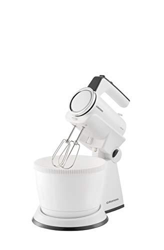 Grundig HM 6860 Handmixer mit 4l Rührschüssel, 4 Stufen, 425 W, Weiß/Schwarz