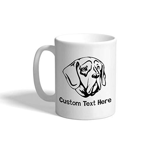 N\A Taza de café de cerámica Personalizada 11 onzas Pachon Navarro Head Taza de té Blanco y Negro Perros Texto Personalizado aquí