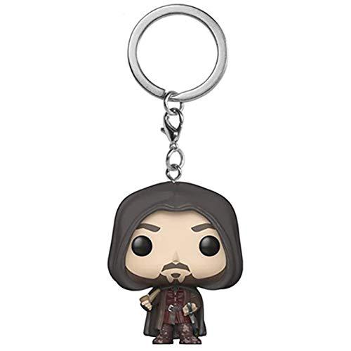 ZEwe Pop Aragorn II Keychain Populaire Sac à Main Q Version Mini poupée Pendentif Anniversaire Cadeau de Vacances
