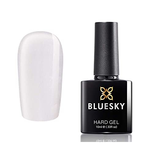 Bluesky Gel Nail Polish, Hard Gel, Nail Strengthener and Growth, Clear, 10ml (Requires Curing Under...