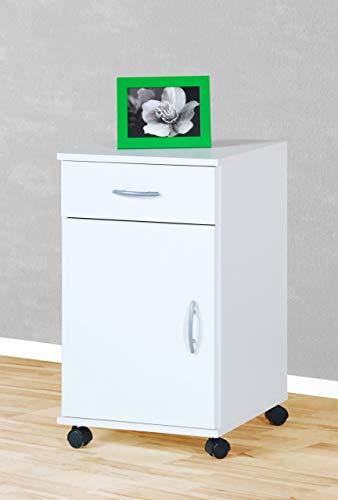 Möbeldesign Team 2000 Rollcontainer Bürocontainer Schubcontainer Nachtschrank weiß -2