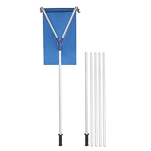 Purchase SHOPTOP 21 FT Rooftop Snow Rake Removal Tool Adjustable Extendable Handle with 4 Sections G...