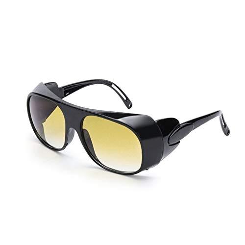 FDNFG Antideslumbrante visión Nocturna Gafas de Noche de conducción Gafas polarizadas Tinte Amarillo se Ajustan sobre Wrap Around Gafas graduadas Hombres Gafas de Sol (Color : Yellow)