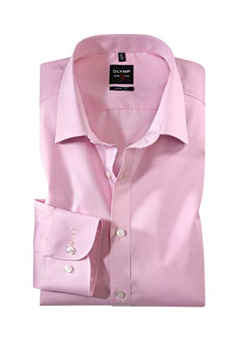Olymp Chemise Level 5 Body Fit Chambray Rosé 2080 64 31 - Rose - 38