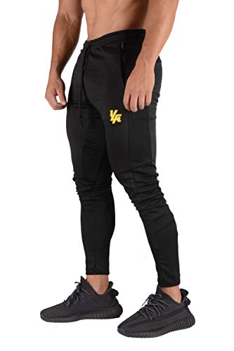 YoungLA Original Soccer Pants for Men and Women | Training Joggers Fitted Sweatpants | Tapered Workout Gym 201 Medium All Black