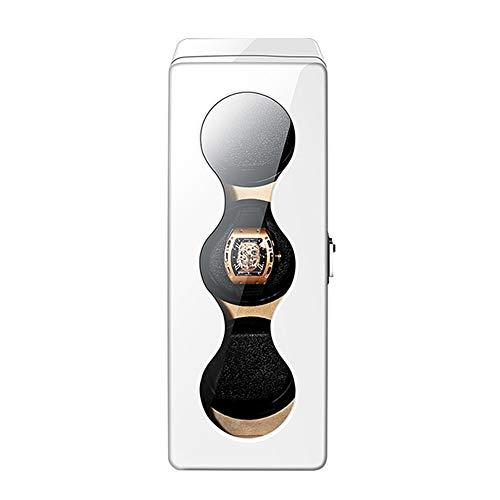 TANGIST 自動 ワインディングマシーン ボックス にとって 3 時計 と 静かなモーター 4つの回転モード LED イルミネーション、 ピアノ塗装 (Color : White)