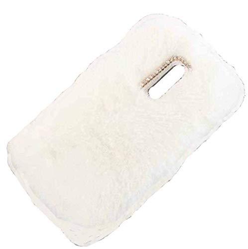 MeiZu M5C/A5 Hülle, haarige flauschige Wolle, süße Villi Winter Warm Weich Neue Slim Cover, DANGE Künstlicher Lichtschutz Dünne Schale für Meizu M5C/A5 Weiß