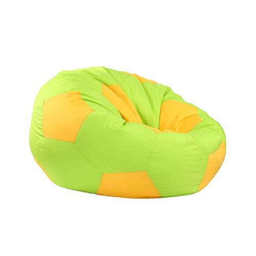 ADosdnn Extra große gefüllte Tier-Speicher-Bagsack-Stuhlabdeckung - für Spielzeuglagerung für Kinder - wasserdichter Fußball gedruckt Faule Sofa Bohnenbeutel (Color : Green 80cm 1)