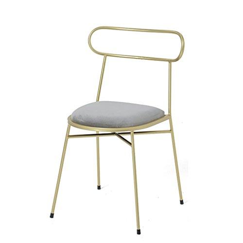 Hochwertige Stool-q qff, Eisen, mit Hocker, Mädchen mit Stuhl, Wohnzimmer Schlafzimmer Wohnzimmer Sessel Stuhl Make-up Schreibtisch-Stuhl mit Front-Sessel Schreibtisch-Stuhl X 44X 77cm Cool C