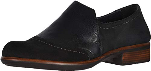 NAOT Women's Angin Slip On Shoe Black Velvet Combo 6 M US