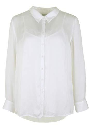 FROGBOX Damen 2 in 1 Bluse mit Spitzentop mit Kragen