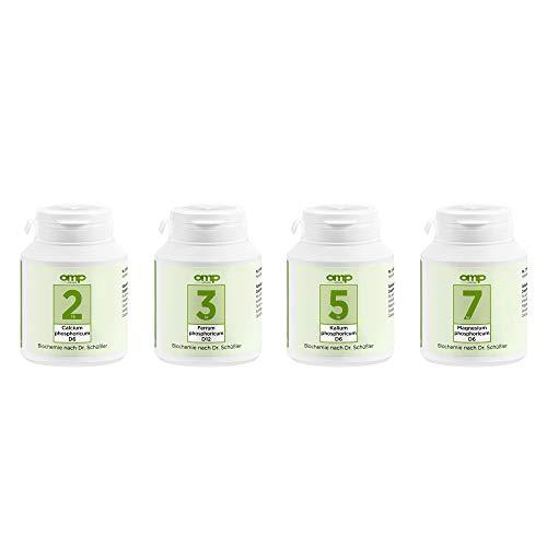 Schüssler Salze Energie-Plus-Kur   Nr. 2, 3, 5 und 7 je 400 Tabletten   glutenfrei