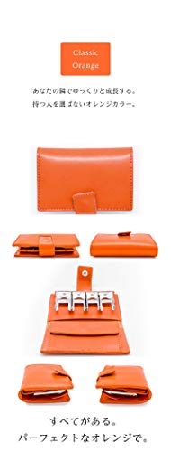 LeatherClassicJapanコインキャッチャー小銭入れ栃木レザー日本製オレンジフリーサイズ