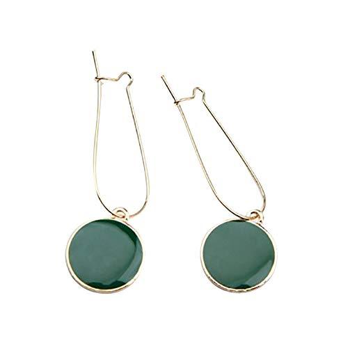 SoundsBeauty - Pendientes colgantes para mujer, diseño de gota, color verde