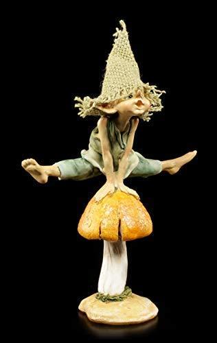 Pixie Kobold Figur Macht Bocksprung - Hurra! | Fantasy-Figur, handbemalt, Motiv von Anthony Fisher