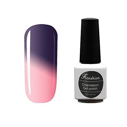 Frenshion 7.3ML Esmaltes Semi Permanente para Uñas Camaleón Gel Polish Soak Off UV LED Nail Art Color Temperatura Cambió 10