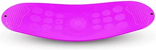 TYSJL Home Yoga Board Balance Twist Fitness Board Anti-Slip Seesaw Sensor Integración Equipo de Entrenamiento (Color : Purple)
