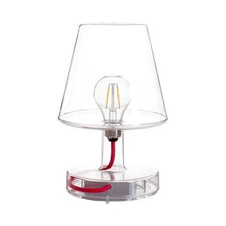 Fatboy® Lampe Transloetje   Transparent   Lampe de table/lecture/chevet   Sans câble   rechargeable avec Mini-USB