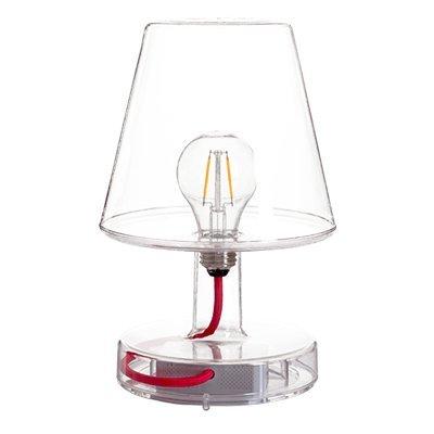 Lámpara Fatboy Transloetje | Transparente | Lámpara de escritorio, luz de lectura, lámpara de mesita de luz | sin cable | recargable con Mini USB