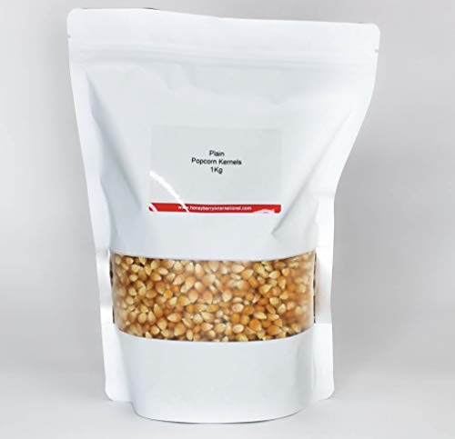 Popcorn Kernels - Plain - 1kg - Microwave Friendly, Suitable for Stove Tops and Popcorn Makers, Vegan Friendly.