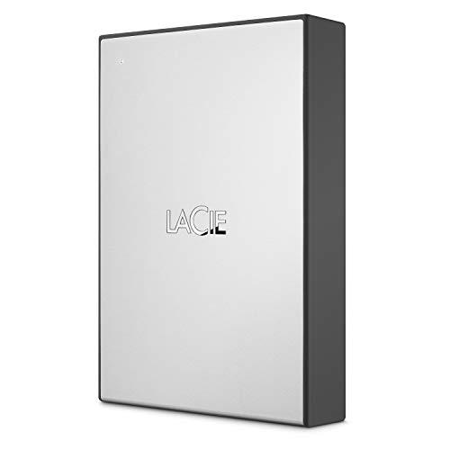 LaCie 1TB USB 3.0 Portable 2.5 Inch External Hard Drive for Mac, PC, Xbox...