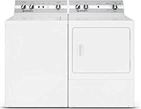 "Speed Queen Laundry Pair TC5000WN 26"" Top Load Washer and DC5000WE 27"" Electric Dryer"