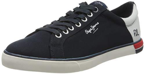 Pepe Jeans Marton Low, Zapatillas Hombre, Azul Marino 595, 46 EU