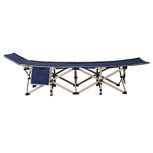 Nicoone Cama plegable de 190 x 67 x 37 cm, tubo multifuncional de 10 pies (con bolsillos laterales), adecuada para una amplia gama de lugares