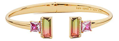 Kate Spade New York Geo Gems Open Hinged Bangle Bracelet