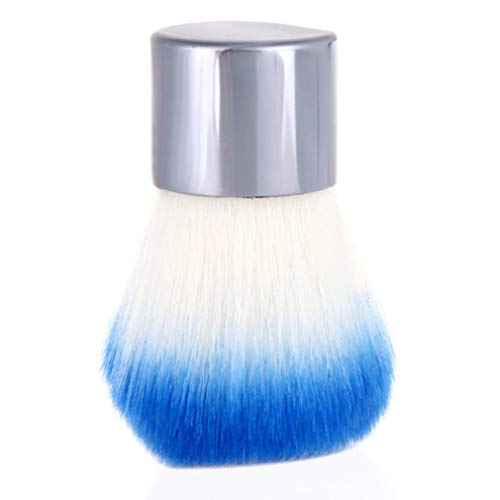 Weisin Ronde Cosmétique Maquillage Brosses Champignon Tête Lâche Minérale Fondation Poudre Blush Brosse Outils De Maquillage pour Les Femmes,Bleu