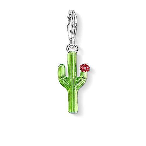 Colgantes De Plata 925 Para Mujer,Personalidad Cactus Verde Chainless Moderno Con Decoración Floral Forma Encante Para Señoras Vacaciones Regalo Regalo De San Valentín Navidad Regalo Joyería A