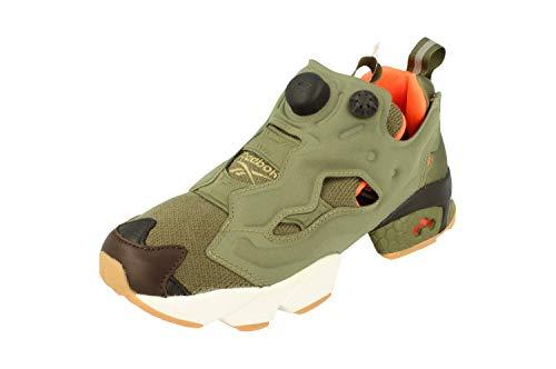 Reebok Instapump Fury OG - Zapatillas deportivas para hombre (talla 6,5 US 7,5 EU 40, color verde, negro y naranja AR3508)