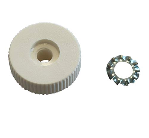 Leipold Feststellmutter für Befestigung von Metall-Klappverdeck mit 3 Streben/Stangen, inklusive Unterlegscheibe, Kunststoff, weiß, Passend für Leipold Bollerwagen