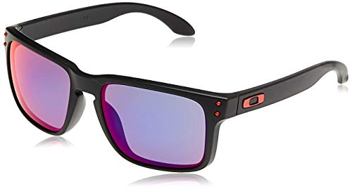 Oakley Sonnenbrille Holbrook W/Warm, 55, Matte Black / Positive Red Iridium